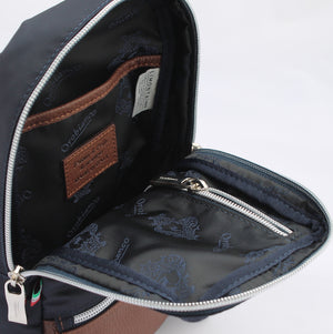 Orobianco Attore Sling Bag in colour Blu Scuro - Forero's Bags and Luggage Vancouver Richmond