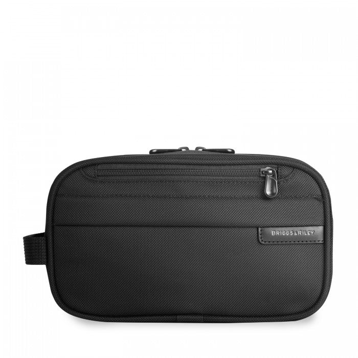 Briggs & Riley Baseline Classic Toiletry Kit in Black front view