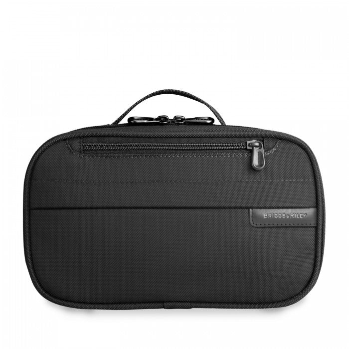 Briggs & Riley Baseline Expandable Toiletry Kit in Black front view