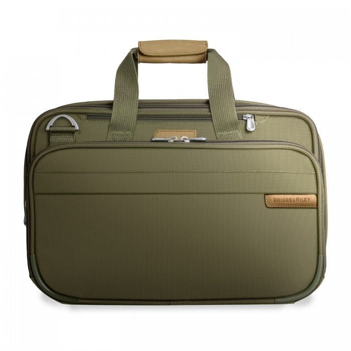 Briggs & Riley Baseline Expandable Cabin Bag in Olive - Forero's Vancouver Richmond