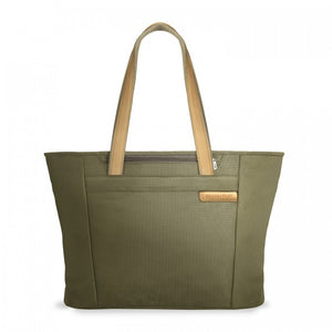 Briggs & Riley Baseline Large Shopping Tote olive - front