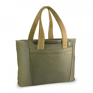 Briggs & Riley Baseline Large Shopping Tote olive - side