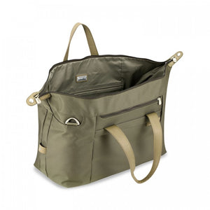 Briggs & Riley Baseline Large Weekender olive - open
