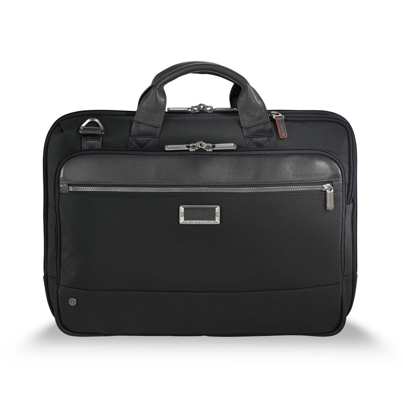 Briggs & Riley @work Medium Slim Brief in Black front view