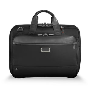 Briggs & Riley @work Medium Expandable Brief in Black front view