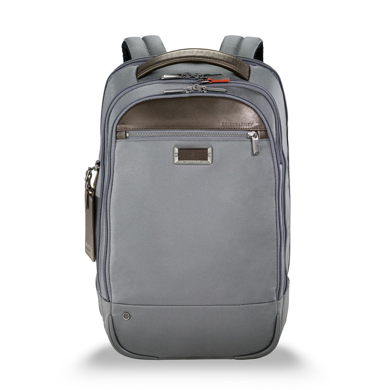 Briggs & Riley @work Medium Backpack in Grey front view