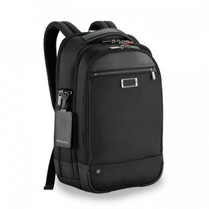 Briggs & Riley @work Medium Backpack in Black side view