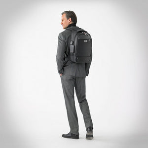 Briggs & Riley @work Medium Backpack in Black on model