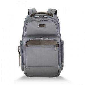 Briggs & Riley @work Medium Cargo Backpack grey - front