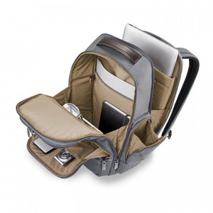 Briggs & Riley @work Medium Cargo Backpack grey - open