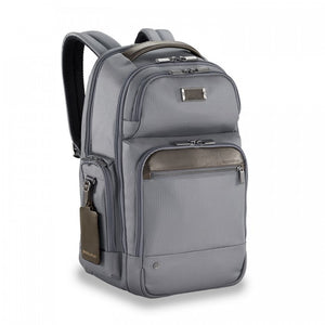 Briggs & Riley @work Medium Cargo Backpack grey - side