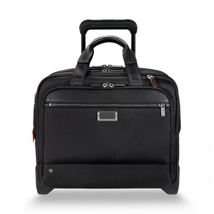 Briggs & Riley @work Medium 2-Wheel Expandable Brief black - front