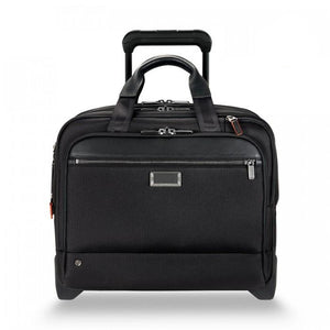 Briggs & Riley @work Medium 2-Wheel Expandable Brief in Black front view