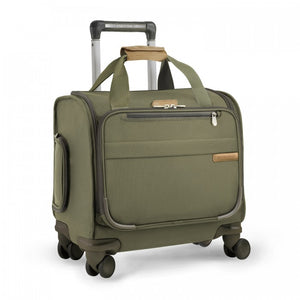 Briggs & Riley Baseline Cabin Spinner in Olive side view