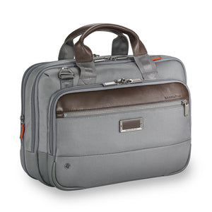 Briggs & Riley @work Small Expandable Brief in Grey side view