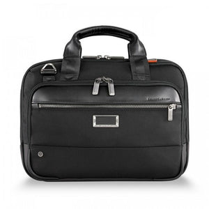 Briggs & Riley @work Small Expandable Brief in Black front view