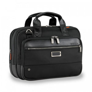 Briggs & Riley @work Small Expandable Brief in Black side view