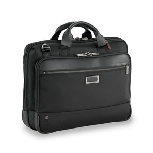 Briggs & Riley @work Medium Slim Brief in Black side view