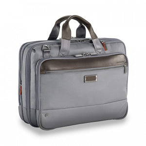 Briggs & Riley @work Medium Expandable Brief in Grey side view