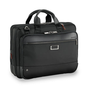 Briggs & Riley @work Medium Expandable Brief in Black side view