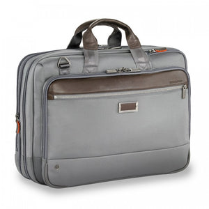 Briggs & Riley @work Large Expandable Brief in Grey side view