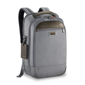 Briggs & Riley @work Medium Backpack in Grey side view