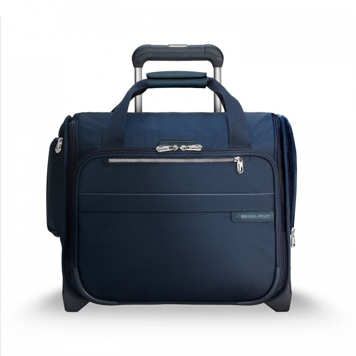 Briggs & Riley Baseline Rolling Cabin Bag in Navy front view
