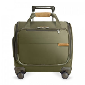 Briggs & Riley Baseline Cabin Spinner in Olive front view