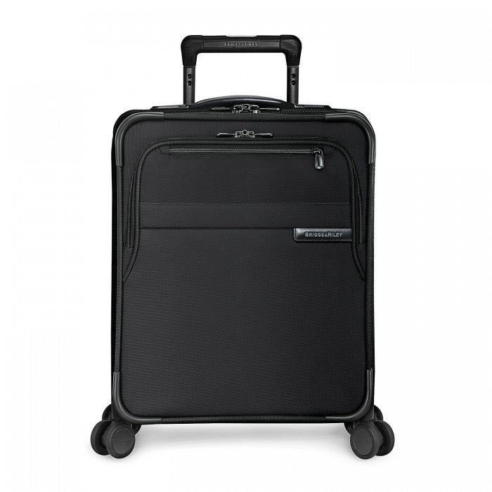 Briggs & Riley Baseline Commuter Expandable Spinner in Black front view