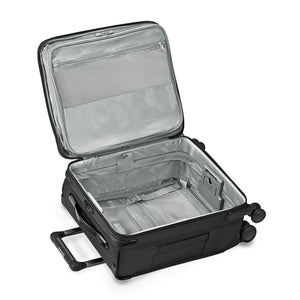 Briggs & Riley Baseline International Carry-On Expandable Wide-Body Spinner in Black inside view