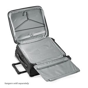 Briggs & Riley Baseline International Carry-On Expandable Wide-Body Spinner in Black garment suiter