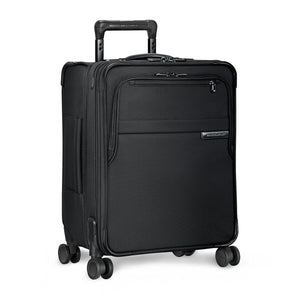 Briggs & Riley Baseline International Carry-On Expandable Wide-Body Spinner in Black side view