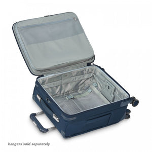 Briggs & Riley Baseline International Carry-On Expandable Wide-Body Spinner in Navy inside view