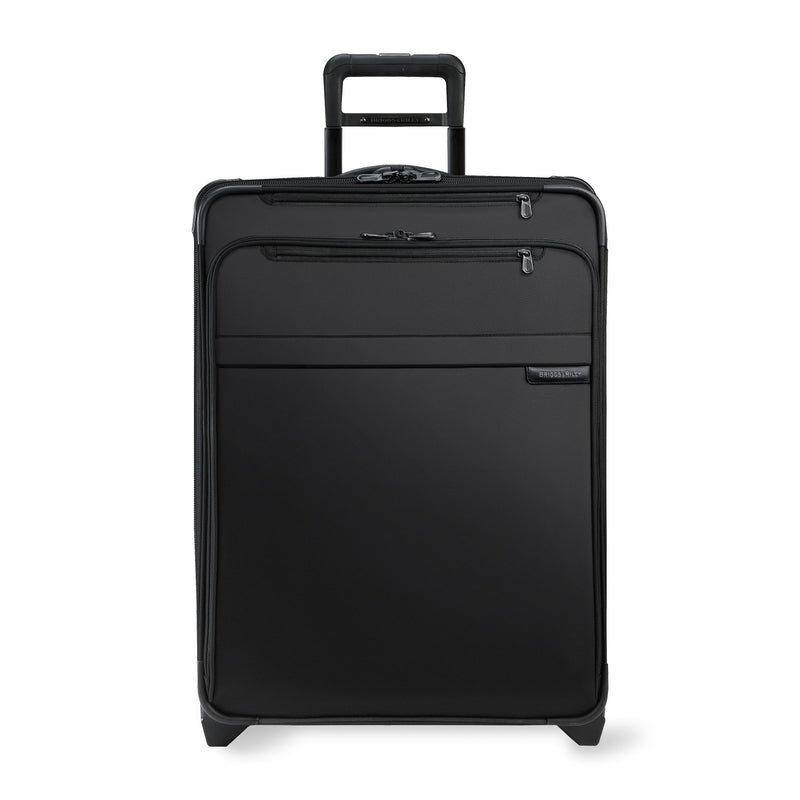 Briggs & Riley Baseline Large Expandable Upright in Black front view