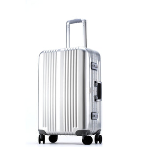"CCS Luggage Aluminum Check-In 32"" in colour Silver - Forero's Bags and Luggage Vancouver Richmond"