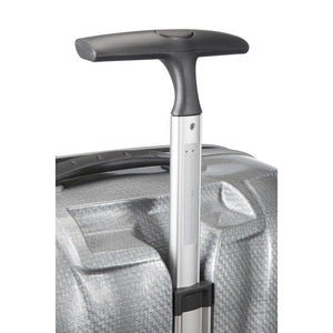 Samsonite Black Label Cosmolite Carry-On in Silver pull handle