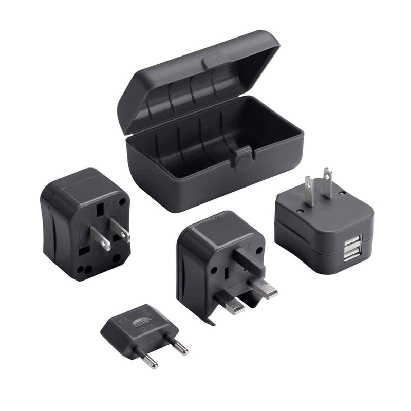 Global Adapter Plug Set with USB Charger - Forero's Bags and Luggage