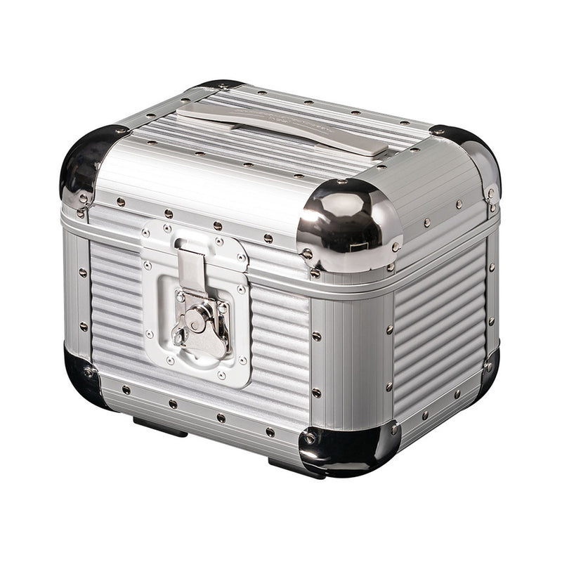 FPM Bank S Vanity Case in Moonlight Silver inside view
