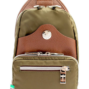 Orobianco Giacomix Sling Bag in colour Kaki - Forero's Bags and Luggage Vancouver Richmond