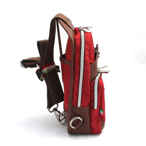 Orobianco Giacomix Sling Bag in colour Rosso - Forero's Bags and Luggage Vancouver Richmond