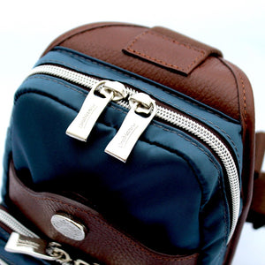 Orobianco Giacomix Sling Bag in colour Avio - Forero's Bags and Luggage Vancouver Richmond