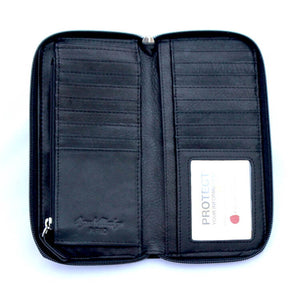 Osgoode Marley Zip Around Women's Leather Wallet in Black - Forero's Vancouver Richmond