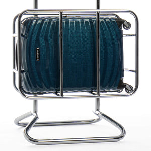 Samsonite Lite-Shock Carry-On in Petrol Blue in cage