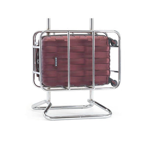 Samsonite Prestige 3D Spinner Carry-On Expandable in Burgundy Air Canada cage