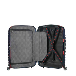 Samsonite Lite-Shock Sport Carry-On in Nautical Blue inside view