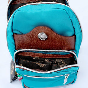 Orobianco Giacomix Sling Bag in colour Golfo - Forero's Bags and Luggage Vancouver Richmond