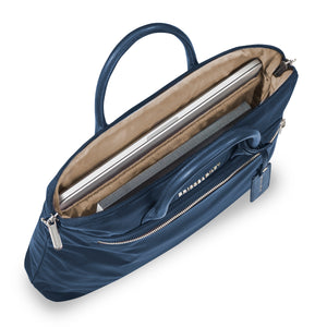 Briggs & Riley Rhapsody Slim Business in Navy inside view