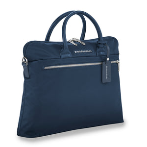 Briggs & Riley Rhapsody Slim Business in Navy side view