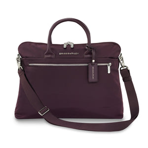 Briggs & Riley Rhapsody Slim Business in Plum front view