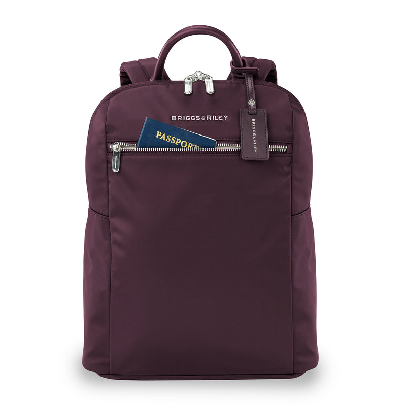 Briggs & Riley Rhapsody Slim Backpack in colour Plum
